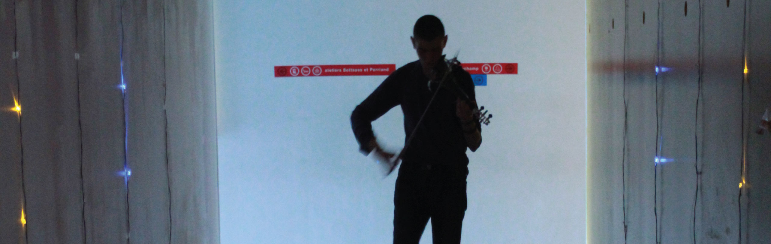 Violin and space dialogue